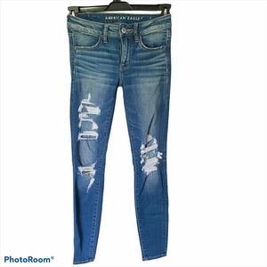 American eagle Jegging jeans distressed